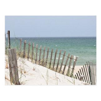 Cartão Postal Foto da duna da praia e de areia