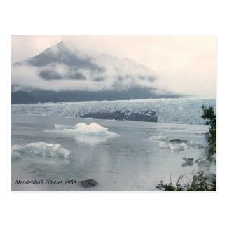 Cartão Postal Foto da geleira de Mendenhall do vintage
