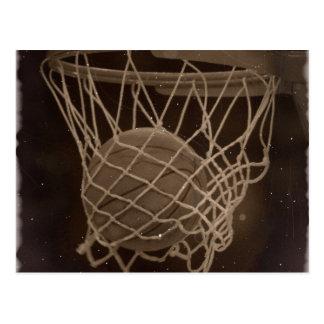 Cartão Postal Foto danificada do basquetebol