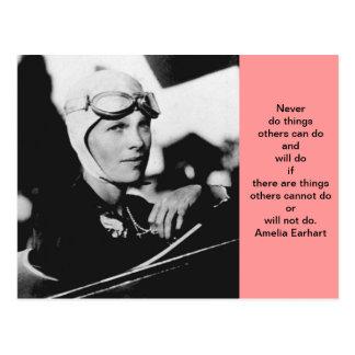Cartão Postal Foto de Amelia Earhart do vintage