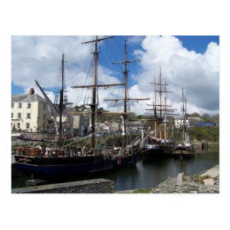 Cartão Postal Foto de Cornualha do porto de Charlestown dos