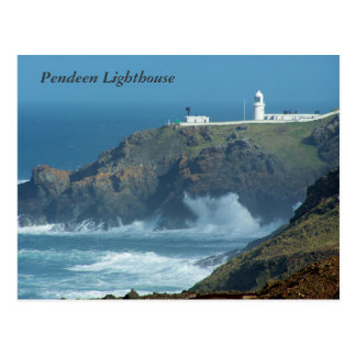 Cartão Postal Foto de Cornualha Inglaterra do farol de Pendeen