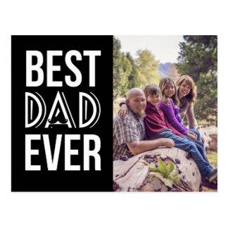 Cartão Postal Foto do dia dos pais do pai do bigode engraçado a