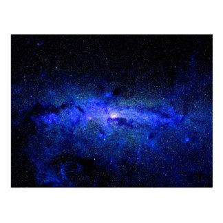 Cartão Postal Foto do espaço da galáxia da Via Láctea