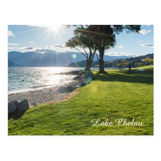 Cartão Postal Foto do viagem da luz do sol do estado de Chelan
