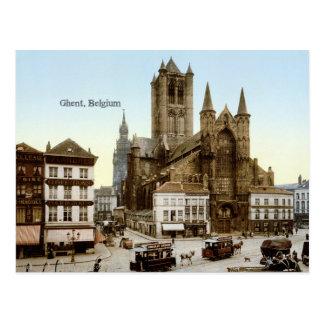 Cartão Postal Foto do vintage: Ghent, Bélgica