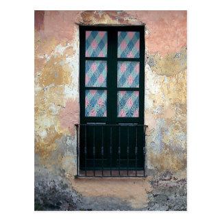 Cartão Postal Foto dos trilhos da janela