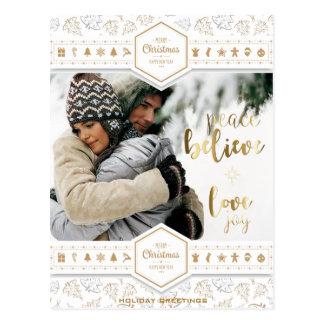 Cartão Postal Foto elegante do amor do Natal