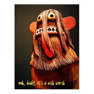 """Cartão Postal """"Foto engraçada da cara das citações selvagens da"""