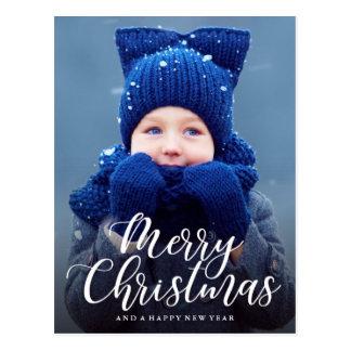 Cartão Postal Foto indicada por letras do feriado do Feliz Natal
