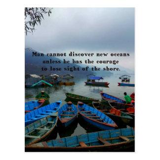 Cartão Postal Foto inspirada do barco da DESCOBERTA das citações