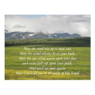 Cartão Postal Foto irlandesa do vale verde da bênção