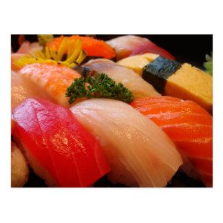 Cartão Postal Foto japonesa de Japão do hipster do sashimi do