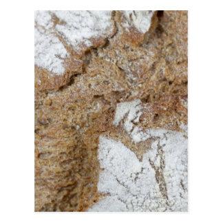 Cartão Postal Foto macro da superfície do pão de mistura