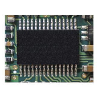 Cartão Postal Foto macro do componente do conselho de circuito