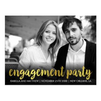 Cartão Postal Foto pessoal do divertimento da festa de noivado  