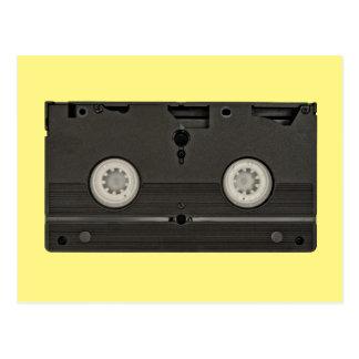 Cartão Postal Foto retro da fita de VHS da gaveta