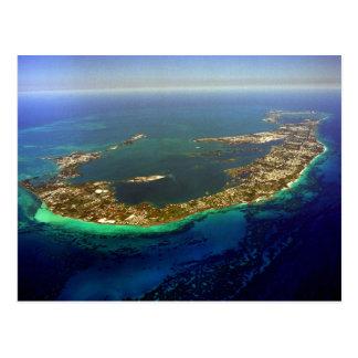 Cartão Postal Fotografia aérea de Bermuda