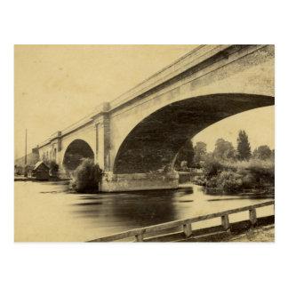 Cartão Postal Fotografia antiga da ponte Railway de Maidenhead