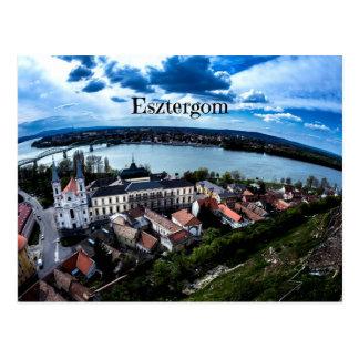 Cartão Postal Fotografia da paisagem de Esztergom