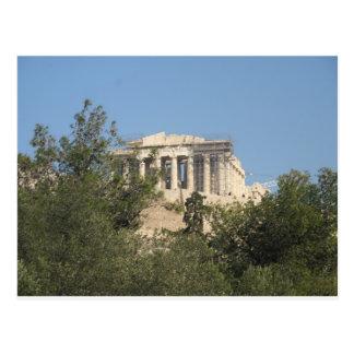 Cartão Postal Fotografia das ruínas do Partenon do grego