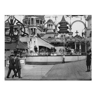 Cartão Postal Fotografia de Coney Island do vintage