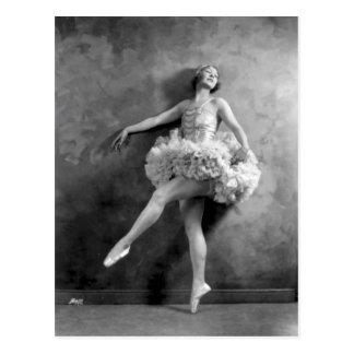 Cartão Postal Fotografia delicada do dançarino da bailarina do