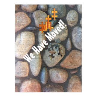 Cartão Postal Fotografia do Fim-Acima da parede da rocha do rio