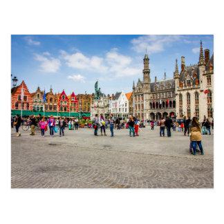 Cartão Postal Fotografia do mercado de Bruges