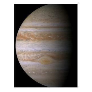 Cartão Postal Fotografia do planeta Jupiter