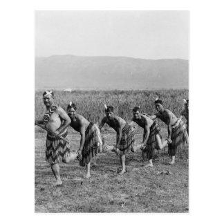 Cartão Postal Fotografia maori da dança de guerra