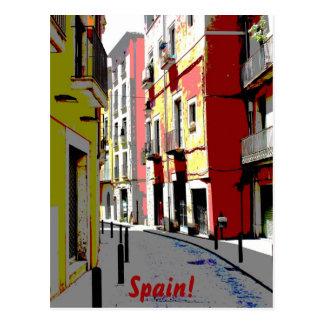 Cartão Postal fotografia psicadélico da rua da espanha
