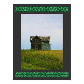 Cartão Postal Fotografia velha de Saskatchewan da herdade