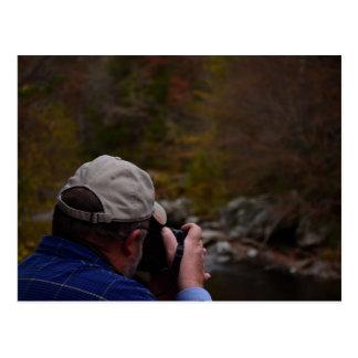 Cartão Postal Fotógrafo na floresta nacional Cherokee