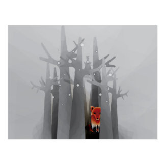Cartão Postal Fox da solidão