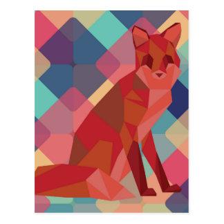 Cartão Postal Fox de Origami