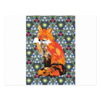 Cartão Postal Fox do hippy