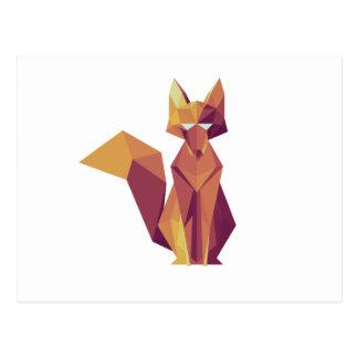 Cartão Postal Fox geométrico