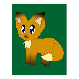 Cartão Postal Fox pequeno desalinhado bonito