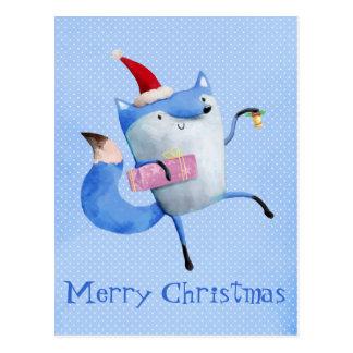 Cartão Postal Fox polar do Natal