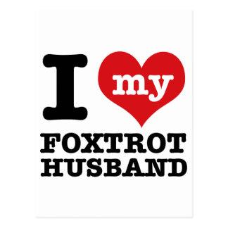 Cartão Postal foxtrot o marido