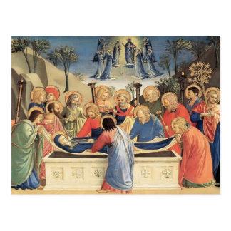 Cartão Postal Fra Angelico- o enterro do Virgin