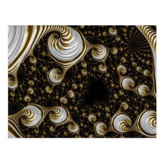 Cartão Postal Fractal de creme bonito do café
