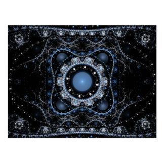 Cartão Postal Fractal juliano azul