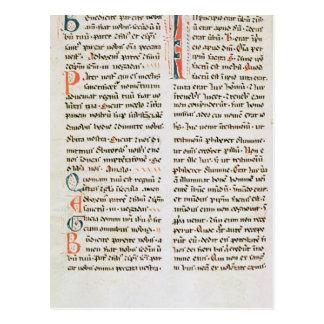 Cartão Postal Fragmento de um manuscrito do Cathar