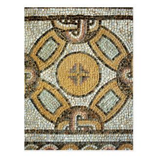 Cartão Postal Fragmento do assoalho dos banhos romanos