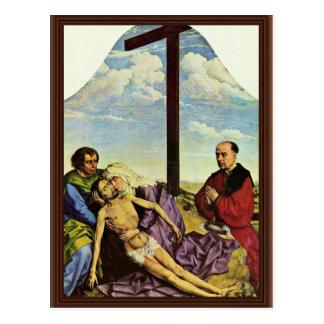 Cartão Postal Fragmento do lamento por Weyden Rogier Van Der