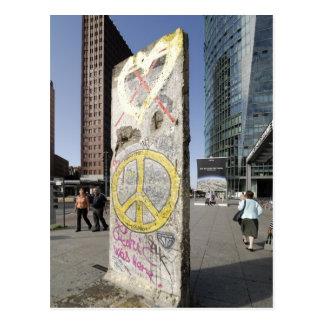 Cartão Postal Fragmento do muro de Berlim