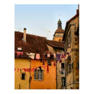 Cartão Postal France, Jura, Arbois; Casas na cidade