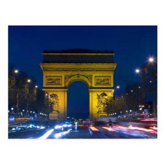 Cartão Postal France, Paris. O Arco do Triunfo e
